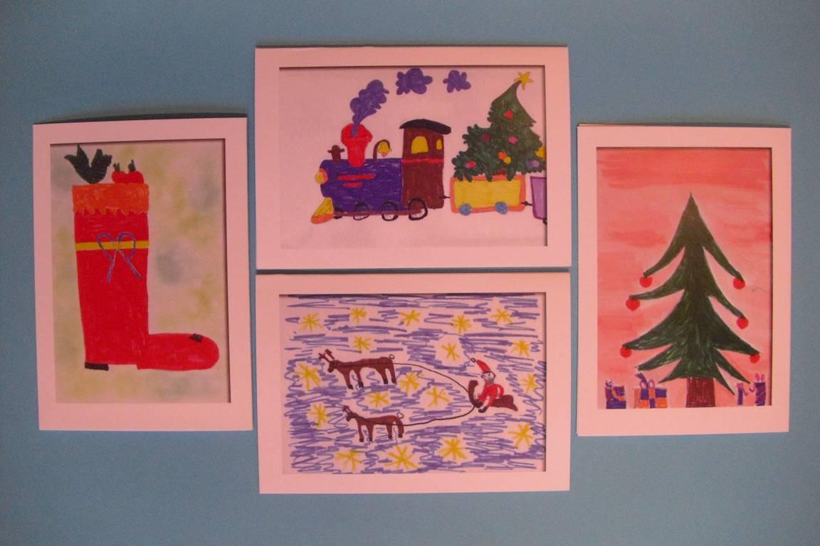 weihnachtskarten der auenwald grundschule auenwaldschule. Black Bedroom Furniture Sets. Home Design Ideas